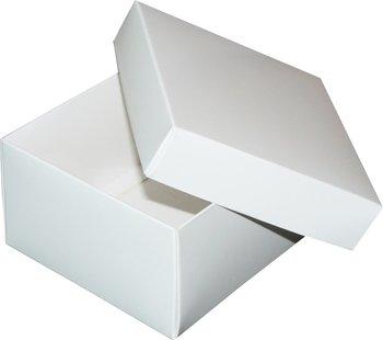 Pudełko ozdobne, białe błyszczące, 12x12x7 cm-AWIH