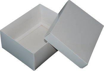 Pudełko ozdobne, białe błyszczące, 16x12,5x7 cm-AWIH