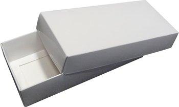 Pudełko ozdobne, białe błyszczące, 18x8x4 cm-AWIH