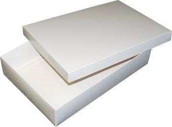 Pudełko ozdobne, białe błyszczące, 35x24x7 cm-AWIH