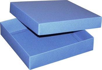 Pudełko ozdobne, niebieskie, 18x18x4 cm-AWIH