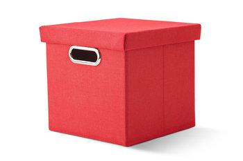 Pudełko PIC czerwony, 25x25x23, 100% poliester -Konsimo