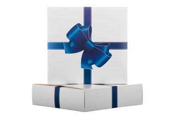 Pudełko prezentowe, dekoracyjne, Kokardka, niebieskie-EVOPRESS