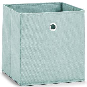 Pudełko tekstylne, ZELLER, 28x28x28 cm, turkusowe-Zeller