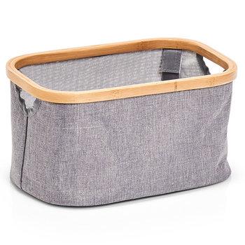 Pudełko tekstylne, ZELLER, szare, 29,5x16x16 cm-Zeller
