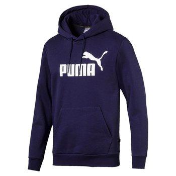 Puma, Bluza męska, ESS HOODY FL BIG LOGO 85174306, granatowy, rozmiar L-Puma