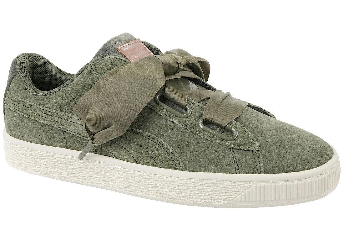 Zamszowe Sneakersy Buty Damskie Puma zielone 39