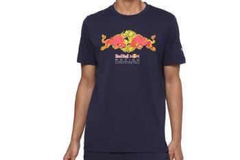 Puma Red Bull Racing Double Bull Tee 596209-01, Męskie, t-shirt, Granatowy-Puma