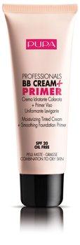 Pupa, Professionals BB Cream&Primer, baza pod makijaż do cery mieszanej i tłustej 002 Sand, SPF 20, 50 ml-Pupa