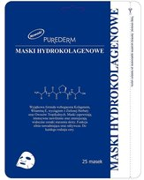 Purederm, maseczka do twarzy hydrokolagenowa, 25 szt.