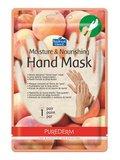 Purederm, maska na dłonie nawilżająca Brzoskwinia-Purederm