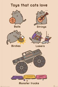 Pusheen Toys for Cats - plakat 61x91,5 cm-Pyramid Posters