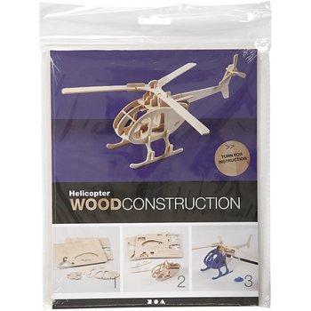 Puzzle 3D, drewniane, helikopter-Creativ Company