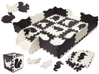 Puzzle piankowe mata dla dzieci, czarno-białe, 25 szt.-Bard
