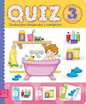 Quiz 3-latka. Edukacyjna książeczka z naklejkami-Opracowanie zbiorowe