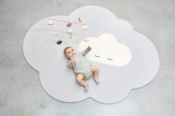 QUUT, Mata podłogowa do zabawy, piankowa, duża, Chmurka, Playmat Pearl Grey-Quut