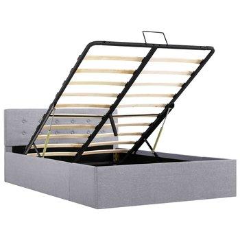 Rama łóżka z podnośnikiem VIDAXL, jasnoszara, 120x200 cm-vidaXL