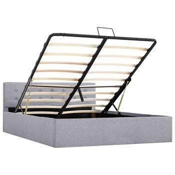 Rama łóżka z podnośnikiem VIDAXL, jasnoszara, 140x200 cm-vidaXL