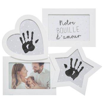 Ramka na zdjęcia, biała, z odciskami dłoni-Atmosphera for kids