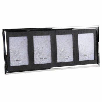 Ramka ścienna na zdjęcia, czarna, 21,5x49,5 cm-DekoracjaDomu.pl