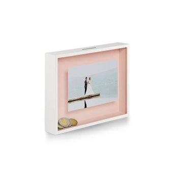 Ramka ze skarbonką PHILIPPI Bank, różowa, 23x4x18 cm-Philippi
