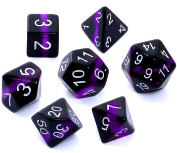Rebel, komplet kości RPG minerały - ametyst-Rebel