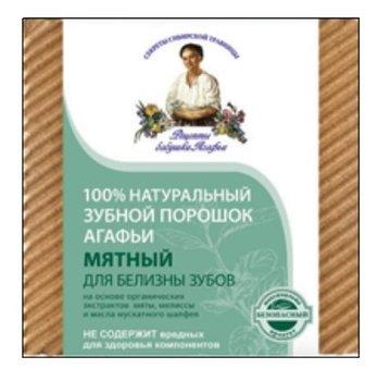 Receptury Babuszki Agafii, miętowy proszek do czyszczenia zębów wybielający, 120 ml-Receptury Babuszki Agafii