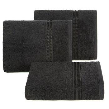 Ręcznik EUROFIRANY Pasy, czarny, 50x90 cm -Eurofirany