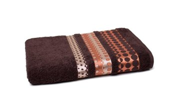Ręcznik FARO Silver, Froto, brązowy, 70x140 cm -Faro