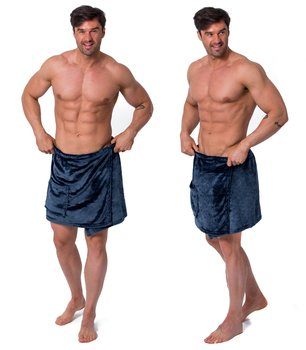 Ręcznik kąpielowy do sauny TUTUMI, niebieski, rozmiar  L/XL-Tutumi