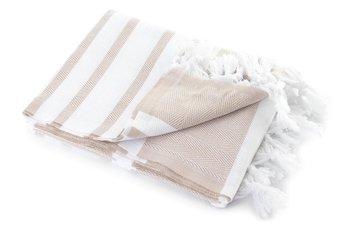 Ręcznik kąpielowy MÓWISZ I MASZ Hamam, beżowo-biały, 100x180 cm-Tuva Home