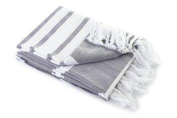 Ręcznik kąpielowy MÓWISZ I MASZ Hamam, szaro-biały, 100x180 cm-Tuva Home