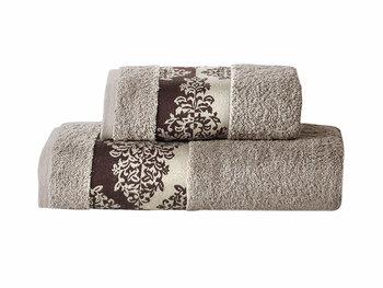Ręcznik Miss Lucy Kol. Alinda 02, beżowy, 50x90 cm -FLORENTYNA