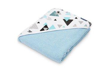 Ręcznik Okrycie Kąpielowe Krepa 100x100 - Niebieski-Sensillo