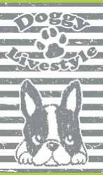Ręcznik plażowy DOGGY szary 100x170-Secaneta