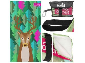 Ręcznik szybkoschnący Outrest z jeleniem różowy XL-Outrest