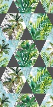 Ręcznik szybkoschnący plażowy FARO Tropical Island Palmy 003, 70x140 cm-Faro
