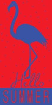 Ręcznik welurowy FARO Miramare Hello Flaming 014, 70x140 cm-Faro