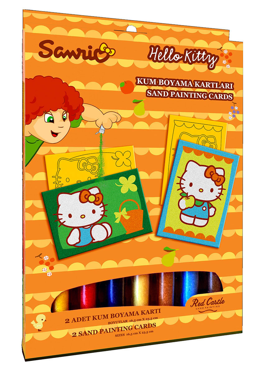 Red Castle Hello Kitty Zestaw Do Malowania Piaskiem Red Castle Sklep Empik Com