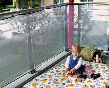 Reer, Siatka zabezpieczająca balustradę, na schody, 94x294 cm-Reer