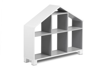 Regał 04 MIRUM biały/szary / 93,4x80,7x25 /-Konsimo
