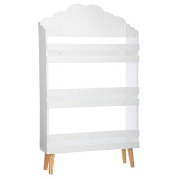 Regał do przechowywania ATMOSPHERA FOR KIDS trzypoziomowy, biały, 58x18x100 cm-Atmosphera for kids