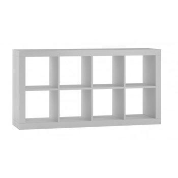 Regał komorowy KALAX 2x4, biały, 148x38x77 cm-Topeshop