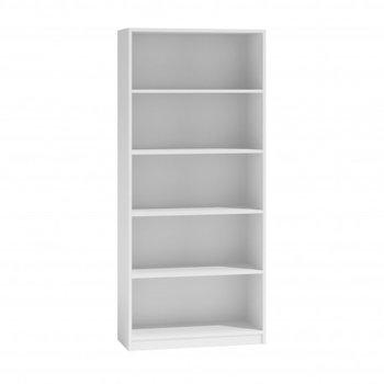 Regał na książki MALWA, biały, 80x30x182 cm-Topeshop