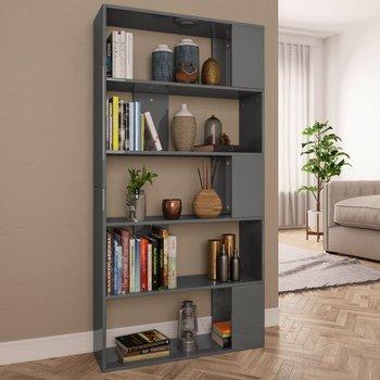 Regał na książki/przegroda vidaXL, 80x24x159 cm, szary, wysoki połysk-vidaXL