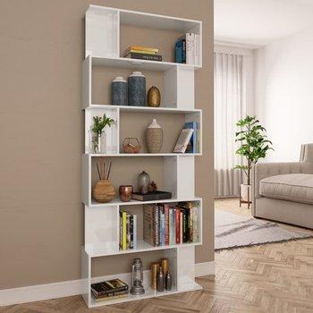 Regał na książki/przegroda vidaXL, 80x24x192 cm, biały, wysoki połysk-vidaXL