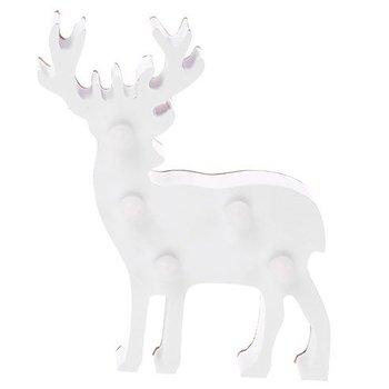 Renifer dekoracyjny LED, HOME STYLING COLLECTION, biały, 13x10x3 cm-Home Styling Collection