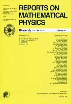 Reports on Mathematical Physics 80/2. Pergamon-Opracowanie zbiorowe