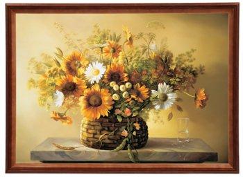 Reprodukcja obrazu w drewnianej ramie o wymiarach 50x70 cm - Kwiaty, Cezary Różycki-Postergaleria