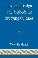 Research Design and Methods for Studying Cultures-Munck Victor C.